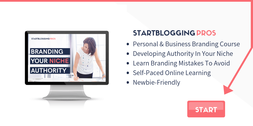 position yourself as the authority in your niche course build niche authority startbloggingpros.com