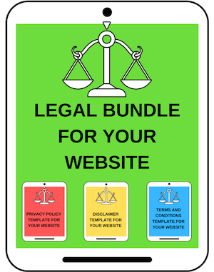 legal bundle for website bloggers legal pages privacy page template terms conditions template disclosure page after installing wordpress start blogging tips startbloggingpros.com