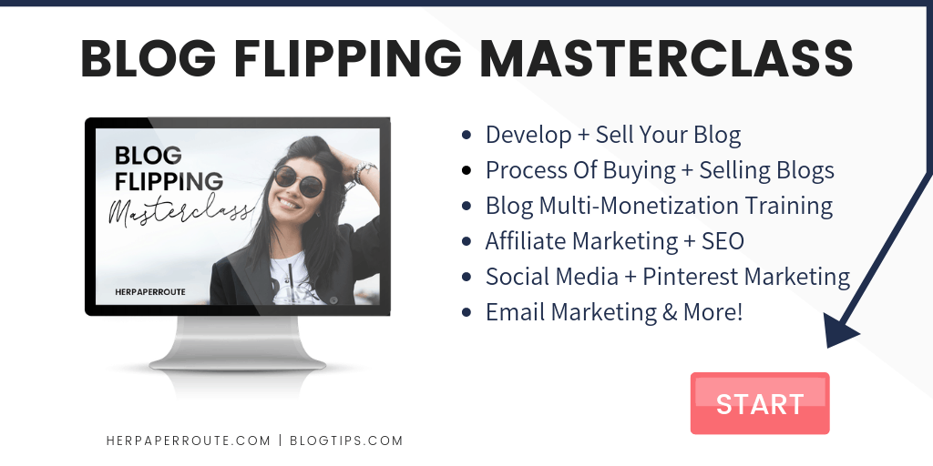 Website flipping blog flipping masterclass website flipping course training how to sell blogs for profit niche blogs for sale sell my website HerPaperRoute BlogTips.com