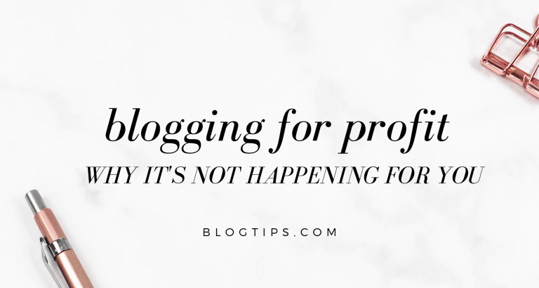 blogging for profit tips